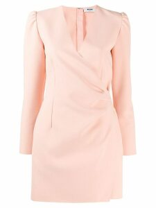 MSGM draped blazer - Pink
