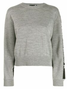 Love Moschino logo stripe sweater - Grey