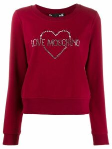 Love Moschino embellished logo sweatshirt - Red