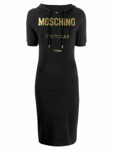 Moschino logo print hoodie dress - Black