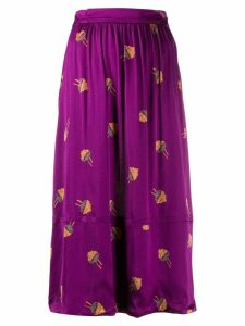 A.P.C. jellyfish midi skirt - Purple