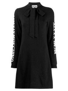 Moschino bow neck knitted dress - Black