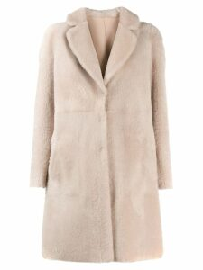 Blancha fur single breasted coat - Pink
