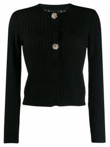 Pinko embellished button cardigan - Black