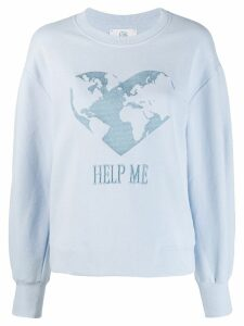 Alberta Ferretti Help Me sweatshirt - Blue