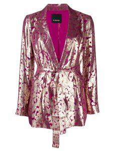Pinko belted longline blazer
