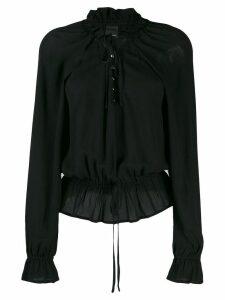 Pinko bell sleeve blouse - Black