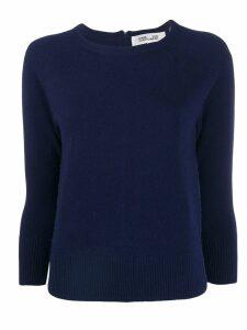Diane von Furstenberg contrasting zip sweater - Blue