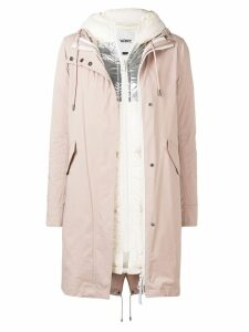 Yves Salomon Army layered hooded coat - Pink