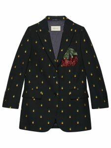 Gucci Pineapple fil coupé wool jacket - Black