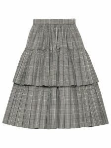 Gucci Prince of Wales check wool skirt - Grey