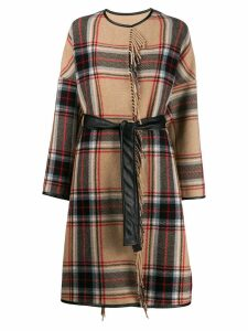 Pinko Costa blanket coat - Neutrals