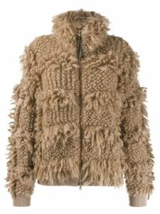 Brunello Cucinelli zipped cardi-coat - Neutrals