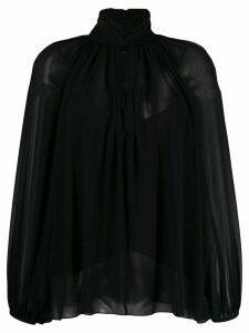Givenchy hang collar blouse - Black