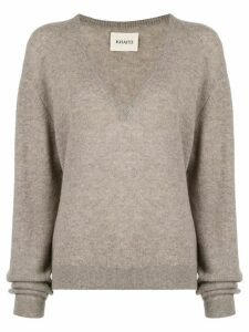 Khaite V-neck jumper - Grey