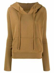 Nili Lotan drawstring hooded sweatshirt - Brown