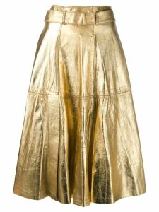 Golden Goose metallic midi skirt