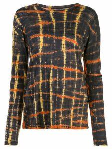 Proenza Schouler Tie Dye Long Sleeve T-Shirt - Grey