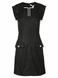 Veronica Beard v-neck mini dfress - Black