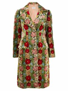 Etro floral print single-breasted coat - Red