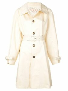 Marni belted trench coat - NEUTRALS