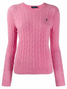 Polo Ralph Lauren cable knit long sleeve jumper - Pink