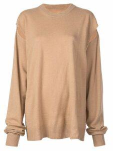 Maison Margiela desconstructed sweatshirt - Brown