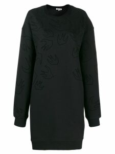 McQ Alexander McQueen Swallow print sweater dress - Black