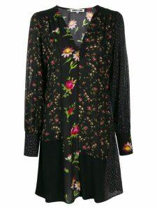 McQ Alexander McQueen panelled floral dress - Black