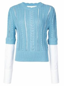 Veronica Beard fine knit sweatshirt - Blue