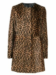 Drome leopard print coat - Brown