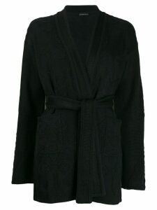 Etro belted cardigan - Black