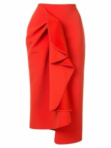 Acler Crawford ruffled skirt - Red