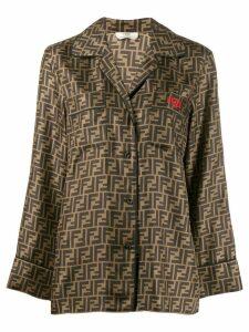 Fendi motif pattern shirt - Black