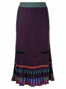 Kenzo ribbed midi skirt - Purple