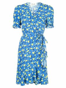 Diane von Furstenberg floral print wrap dress - Blue