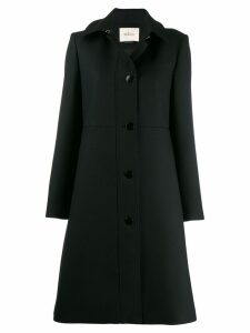 Mulberry buttoned single-breasted coat - Black