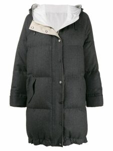 Brunello Cucinelli oversized padded coat - Grey