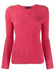 Polo Ralph Lauren cable knit long sleeve jumper - Red