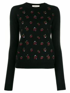 Mulberry floral embroidered sweater - Black