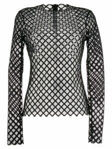 Philosophy Di Lorenzo Serafini lace crystal embellished top - Black