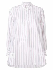 Thom Browne Tricolor Tunic Shirtdress - White