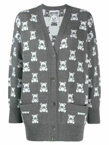 Moschino Teddy Bear pattern cardigan - Grey