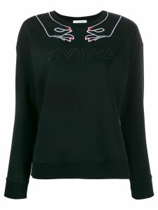 Vivetta embroidered logo jumper - Black