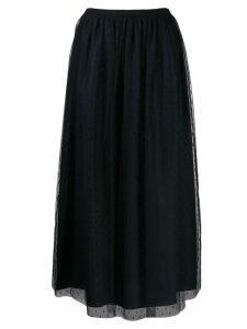 Red Valentino mesh tulle skirt - Blue