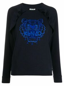 Kenzo embroidered logo top - Blue