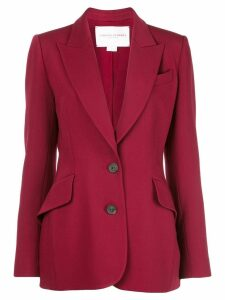Carolina Herrera single-breasted blazer - Red