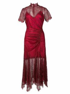 Jonathan Simkhai lace slit dress - Red