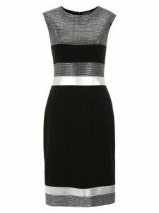 Gloria Coelho panelled dress - Black