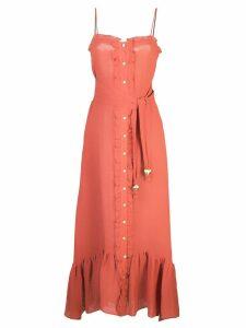 Lisa Marie Fernandez front button maxi dress - Red
